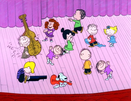"The Peanuts gang gets into the holiday spirit in ""A Charlie Brown Christmas,"" airing at 7 p.m. Dec. 5 on ABC."