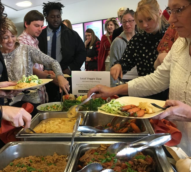 Local food is served at a local food summit hosted by Ball State University on Nov. 6.