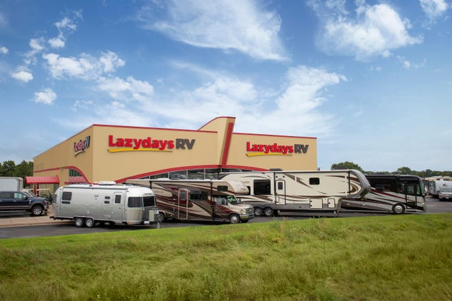 This Lazydays RV is located in Minneapolis. The company plans to open a store in about a year in Murfreesboro northwest of the nearby Interstate 24 exit to New Salem Highway.