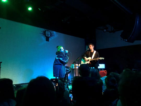 Billie Eilish and Finneas O'Connell perform at Third Man Records in Nashville, Tenn. on November 6, 2019.