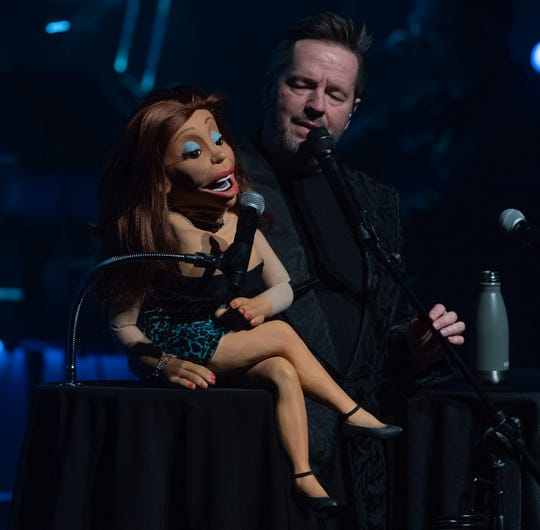 Terry Fator with his cougar chanteuse, Vikki.