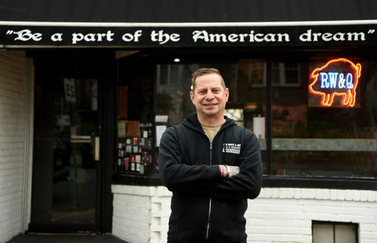 """Dan Misuraca and his wife Katie Misuraca own Red White & Que Smokehouse in Kearny. Dan is a veteran of the U.S. Marine Corps and gives back to fellow veterans all year long. Misuraca offers veterans discounted meals daily, has a """"Buy a Veteran a Meal,"""" program, gives free meals to veterans on Veteran's Day."""