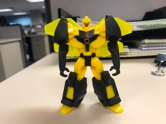 This Transformers toy is not part of the vintage collection, but was handed out at the Bloomfield McDonald's.