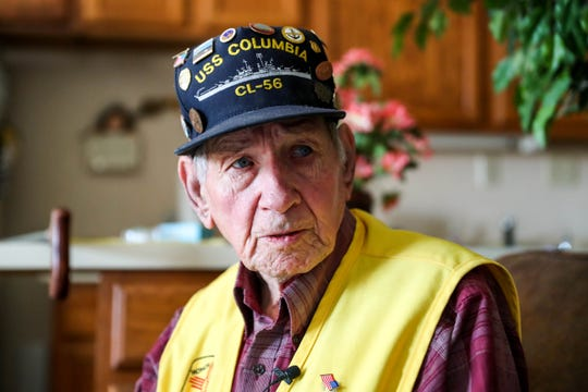 U.S. Navy Veteran Dwight Weir sits down with the Sun-News on Friday, Nov 1, 2019 in Las Cruces to share stories from his time on the Columbia during WWII.