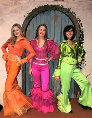 Donna and the Dynamos are Morgan Vick, as Tanya; Reagan Marinucci as Donna and Mila Vucelic as Rosie.