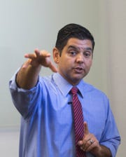 Congressman Dr. Raul Ruiz is photographed at his offices in La Quinta, California during an exclusive interview with Desert Sun reporter Ricardo Lopez on November 6, 2019.