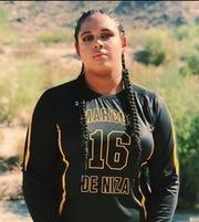 Marcos de Niza girls volleyball player Hailey White