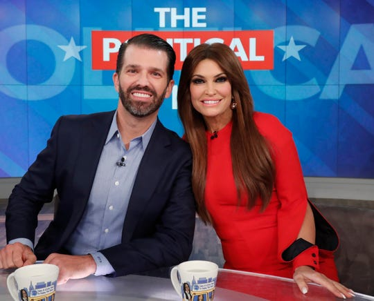 "Donald Trump Jr. and Kimberly Guilfoyle appear on ""The View"" on Nov. 7, 2019."