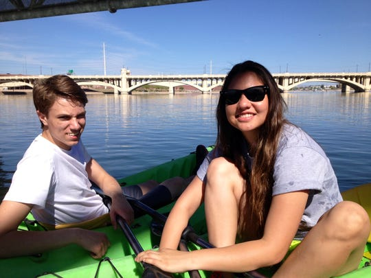 By the time Sawyer was a teenager, we walked and biked around the Tempe Town Lake less often. Sawyer preferred to kayak.
