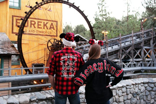 Guests will find plenty of themed merchandise during the holidays at Disneyland Resort.