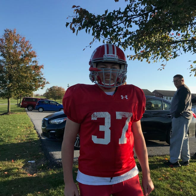 Hunter Nelson has still found time to play three sports, including football at Annville-Cleona, while pursuing his Eagle Scout certificate.