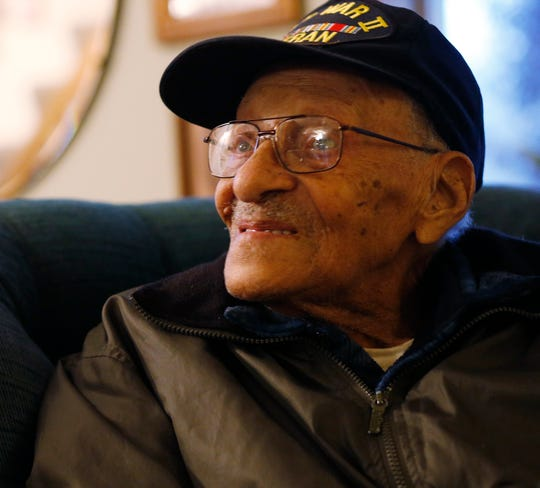 Stuart Vidal at his home in the Town of Poughkeepsie on November 7, 2019.  Vidal served in the army as an aviation engineer during World War II.