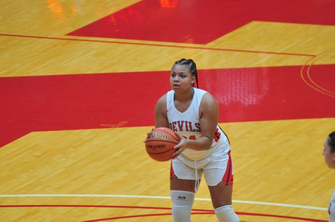 Sophomore Jakaia Lotz tallied a career-high 25 points in Richmond's 54-49 over Tipton on Friday.