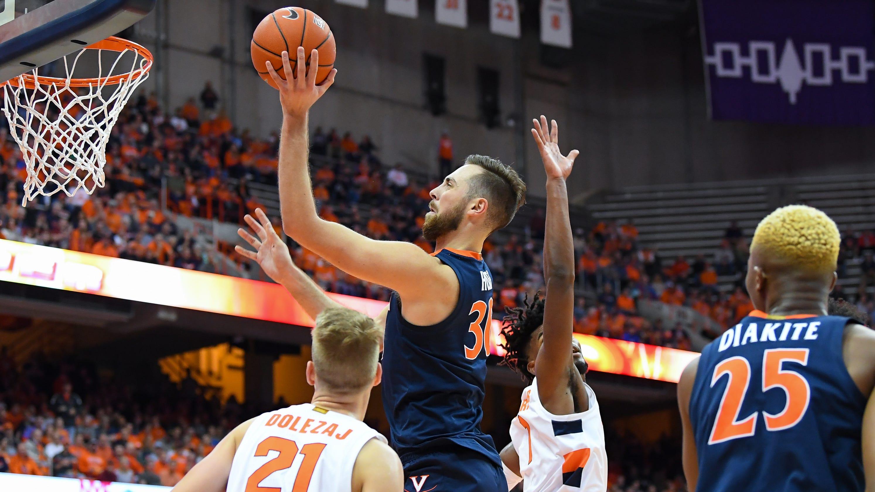 College Basketball Virginia Dominates Inside While Handling
