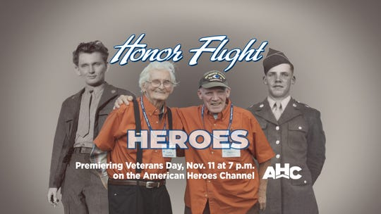 "Rochester-area World War II veterans Philip ""Curly"" Voystock (left) and Harold Stryker will be featured on the TV show ""Honor Flight Heroes"""