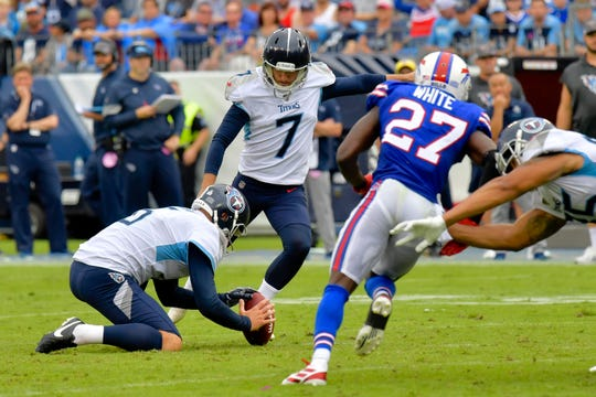 Tennessee kicker Cairo Santos missed four field goals which greatly helped the Bills defeat the Titans.