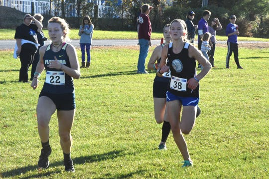 Fort Defiance freshman Logan Braun (38) helped the Indians earn a spot in the Class 3 state meet. Fort finished third overall at Wednesday's Region 3C meet at the Rockingham County Fairgrounds.