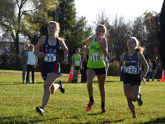 Wilson Memorial's Eliza Dana (178) finished ninth at Wednesday's Region 3C cross country meet, earning a spot in the state meet on Nov. 16.