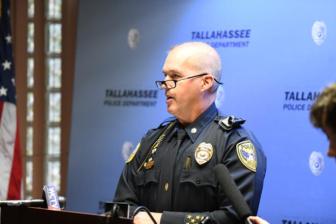 Tallahassee Police Department Maj. Lawrence Revell takes questions regarding a call from Leon County Commissioner Bill Proctor that he not be considered as a candidate for chief of police because of his involvement in a fatal shooting 23 years ago