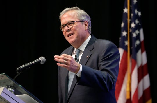 Former Florida Governor Jeb Bush served as the keynote speaker at the 2019 U.S.-Mexico Border Summit at the Judson F. Williams Convention Center.