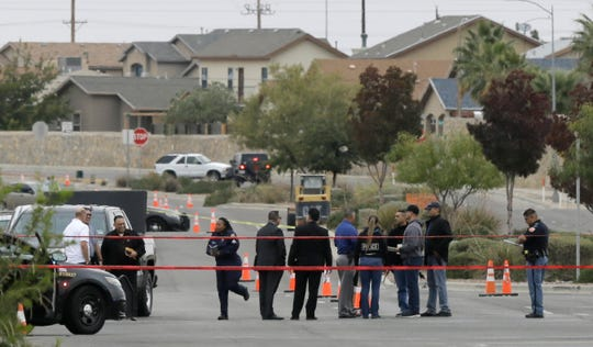 El Paso Police investigate an officer involved shooting Thursday at the intersection of Rich Beem Blvd. and Pebble Hills Blvd. after a man was reported in the intersection with a gun.