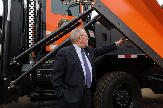 "Rockland County Highway Superintendent Charles H. ""Skip"" Vezzetti talks about the new trucks the county has for the upcoming snow season at Rockland County Highway Department in New City Nov. 7, 2019."