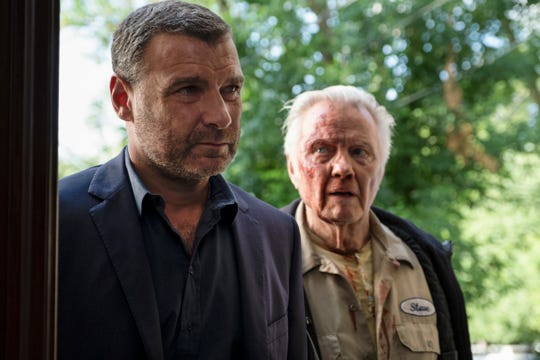 """(L-R): Liev Schreiber as Ray Donovan and Jon Voight as Mickey Donovan in RAY DONOVAN, """"Family Business"""". Photo Credit: Jeff Neumann/SHOWTIME."""