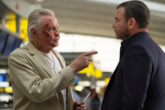 """Jon Voight as Mickey Donovan and Liev Schreiber as Ray Donovan in """"Ray Donovan"""""""