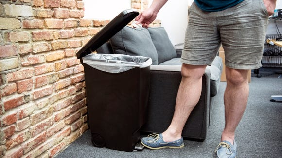 A simple, yet stylish trash can for your home.