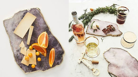 Upgrade your holiday party with this stylish serving platter.