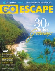 "Studio Gannett's ""Go Escape"" Winter 2020 magazine"