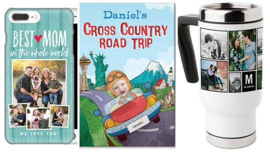 Photo cellphone cases, story books for children and travel mugs are year-round favorite but also are popular holiday gifts reports Shutterfly.