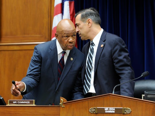 Reps. Elijah Cummings and Darrell Issa on Capitol Hill in Washington on July 18, 2013.