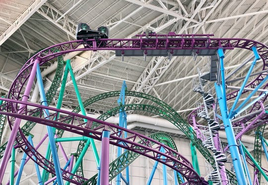 "The Shredder: The purple-tracked coaster known as The Shredder is billed as the world's tallest and longest free-spinning coaster. It intertwines with TMNT Shellraiser. The rides share a ""Teenage Mutant Ninja Turtles"" theme."