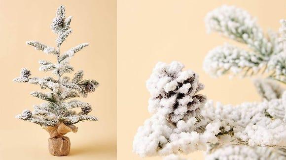 Make your mantle a winter wonderland.