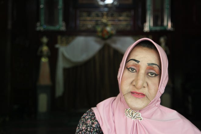 "Shinta Ratri runs an Islamic boarding school for trangender women, here on Aug. 5, 2019. Located in Yogyakarta, a city in Central Java, Pesantren Al-Fatah is the only school of its kind in Indonesia. As a trans woman and a devout Muslim, ""Ibu Shinta"" believes that the practice of using ruqyah to ""cure"" someone of their sexuality or gender is based on a mistaken understanding of what it means to be gay or transgender."