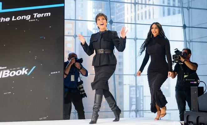 Kris Jenner and Kim Kardashian West speak onstage at 2019 New York Times Dealbook on November 6, 2019 in New York City.