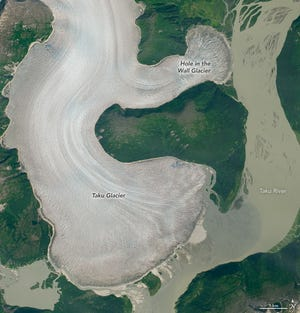 Alaska's Taku Glacier has finally started its retreat as global temperatures rise.