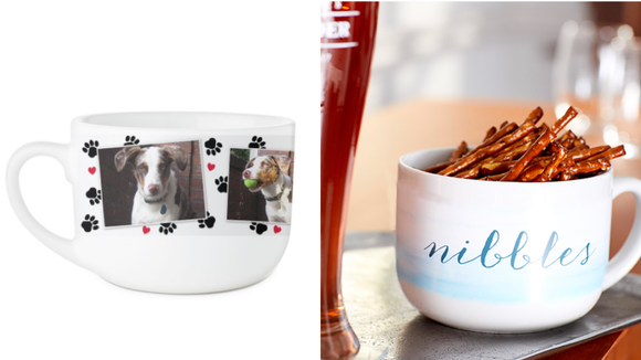 Best cat gifts 2019: Paw Prints Latte Mug