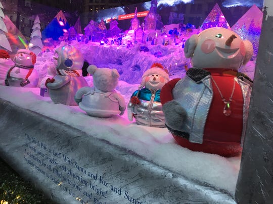 Snowpals in the 2018 holiday windows at Macy's Herald Square.