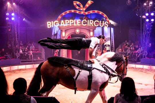 Thrills and stunts are part of Big Apple Circus, an annual winter attraction in Manhattan.