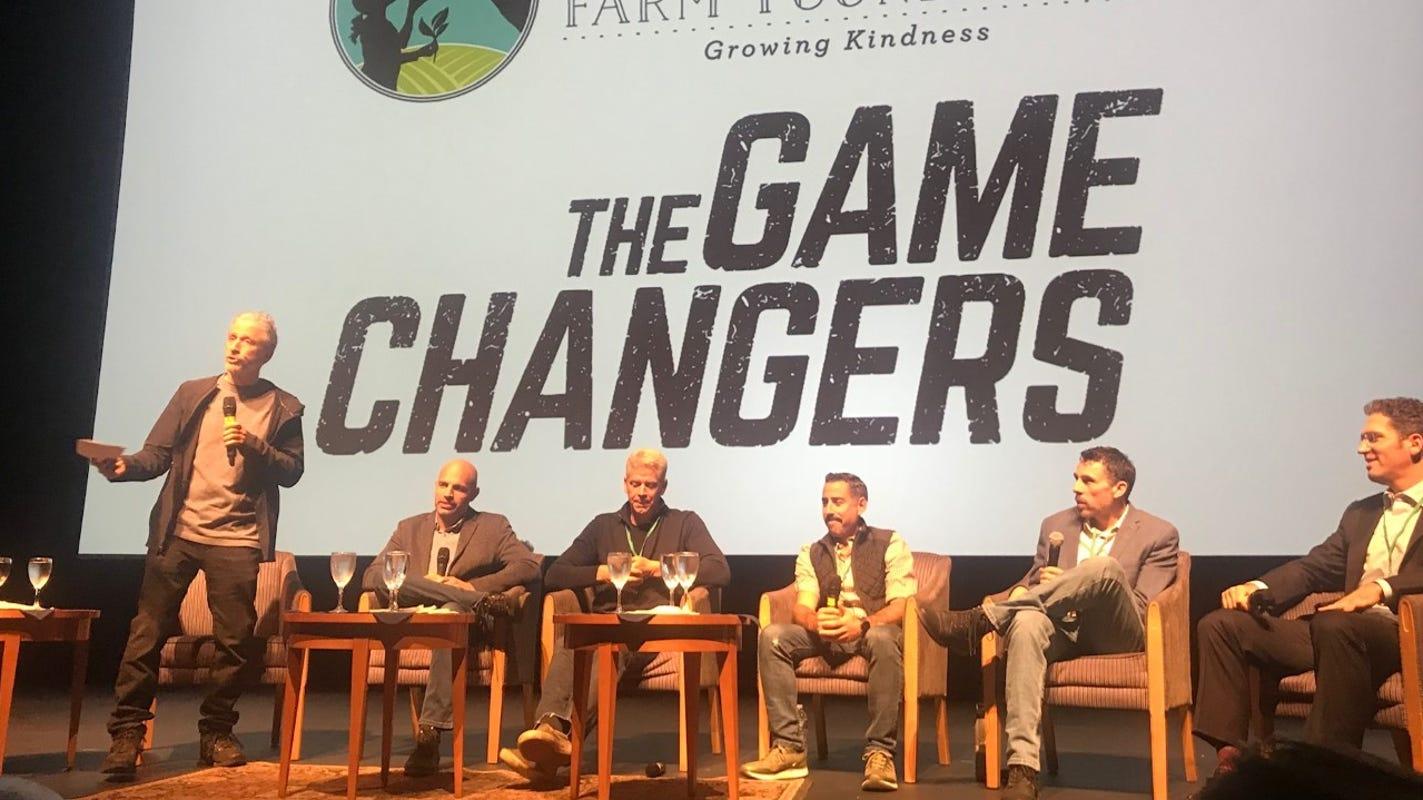 Jon Stewart talks benefits of plant-based diet at Monmouth U. 'Game Changers' screening