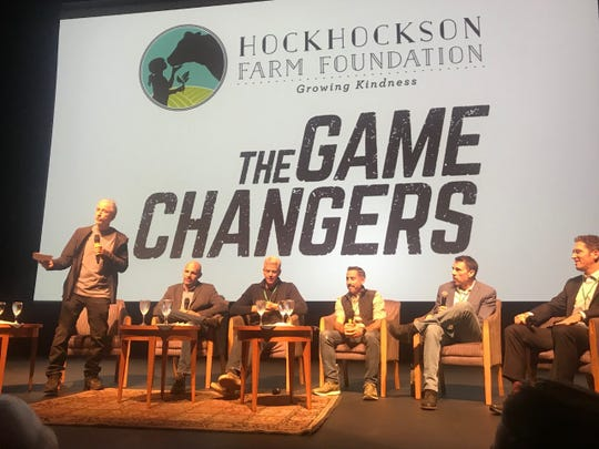 "Jon Stewart leads a panel discussion on the movie ""The Game Changers"" Thursday, Nov. 7 at the Pollak Theatre  on the campus of Monmouth University in West Long Branch."