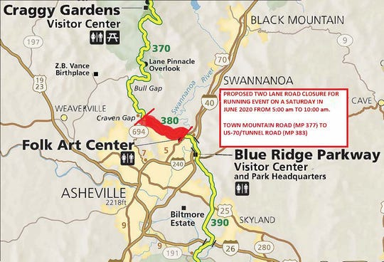 The Blue Ridge Parkway is seeking comment on proposed closures in June 2020 for a race.
