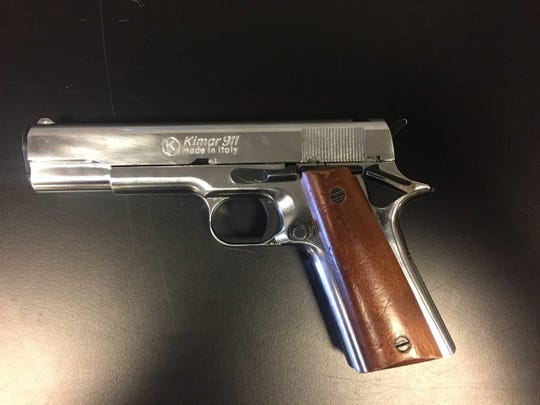 Investigators said this replica gun was found in the student's backpack.