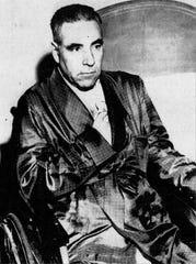 Joseph Barbara Sr. in 1959 awaiting his trial.