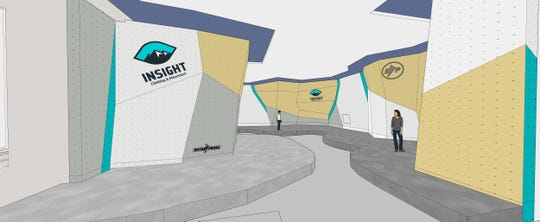 A rendering of Island Rock Gym's new bouldering gym, which is scheduled to open in Bremerton in 2020.