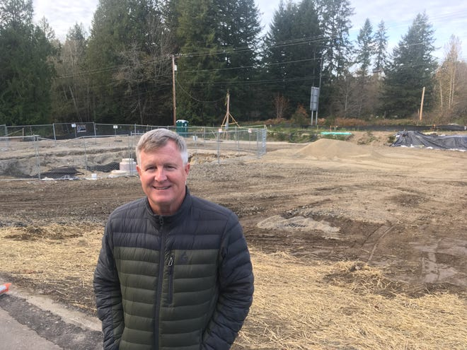 Jeff Stokes plans a gas station at the Mullenix Road intersection off Highway 16 in South Kitsap. He hopes the gas station will be open in spring 2020.