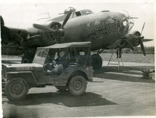 Pictured is a B-17, serial number 42-29554 and named Maryland, My Maryland, the plane Bill Edwards was assistant crew chief for in England during World War II.