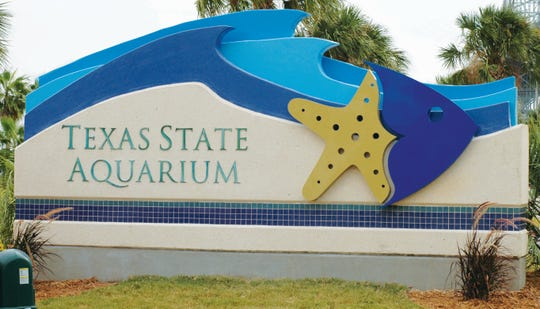 Corpus Christi Stamp Works fabricated the lettering and graphic on a Texas State Aquarium monument in Corpus Christi.